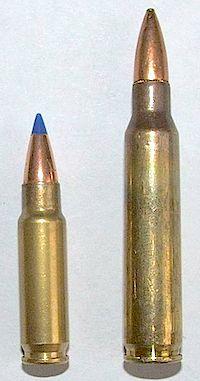 5.7x28 Ammo on a table