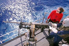 NAVY firing 50 BMG ammunition