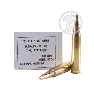 Picture of 5.56 PRVI PARTIZAN 55 GRAIN FMJ (1000 ROUNDS)