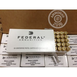 Picture of 9MM FEDERAL 115 GRAIN JHP (1000 ROUNDS)