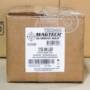 Picture of 9MM LUGER MAGTECH GUARDIAN GOLD 124 GRAIN JHP (20 ROUNDS)