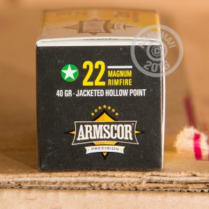 Picture of 22 MAGNUM ARMSCOR 40 GRAIN JACKETED HOLLOW POINT (50 ROUNDS)