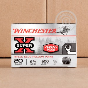 "Picture of 20 GAUGE WINCHESTER SUPER-X 2-3/4"" 3/4 OZ. RIFLED SLUG HP (15 ROUNDS)"