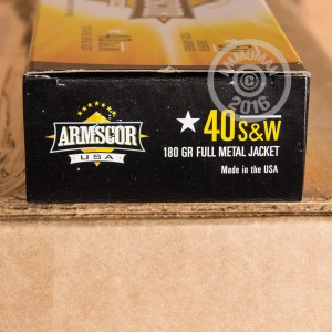 Picture of .40 S&W ARMSCOR 180 GRAIN FMJ (50 ROUNDS)