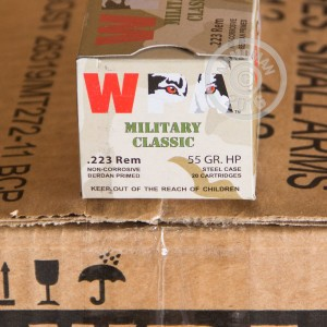 Picture of 223 REMINGTON WOLF WPA MILITARY CLASSIC 55 GRAIN HP (20 ROUNDS)