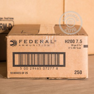 "Picture of 20 GAUGE FEDERAL GAME SHOK 2-3/4"" #7.5 (25 SHELLS)"