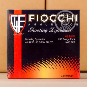 Picture of 40 S&W FIOCCHI SHOOTING DYNAMICS 165 GRAIN FMJ-TC (1000 ROUNDS)