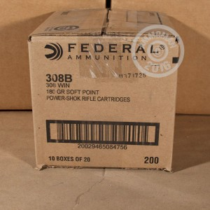 Picture of 308 WIN FEDERAL POWER-SHOK 180 GRAIN SP (20 ROUNDS)