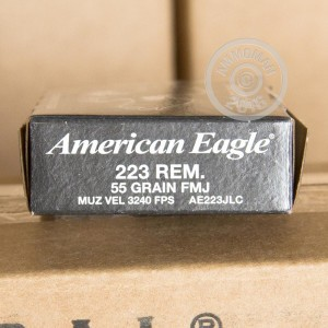 Picture of .223 REMINGTON FEDERAL AMERICAN EAGLE 55 GRAIN FMJ-BT (20 ROUNDS)