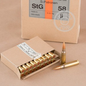 Picture of 308 WIN SURPLUS HIRTENBERGER 146 GRAIN FMJ (240 ROUNDS)
