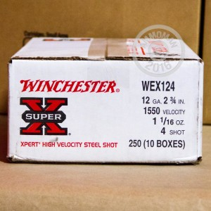 "Picture of 12 GAUGE WINCHESTER SUPER-X WATERFOWL 2-3/4"" 1-1/16 OZ. #4 SHOT (25 ROUNDS)"