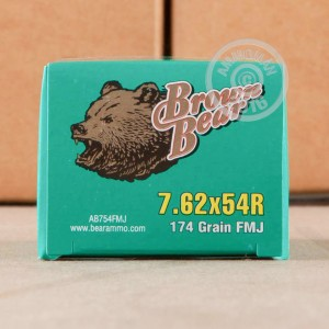 Picture of 7.62X54R BROWN BEAR 174 GRAIN FMJ (20 ROUNDS)