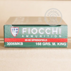 Picture of 30-06 SPRINGFIELD FIOCCHI SIERRA MATCHKING 168 GRAIN BTHP (20 ROUNDS)