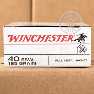 Picture of 40 S&W WINCHESTER 165 GRAIN FMJ-FN (50 ROUNDS)