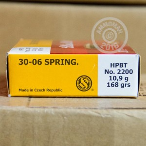 Picture of 30-06 SELLIER & BELLOT 168 GRAIN HPBT MATCH GRADE (20 ROUNDS)