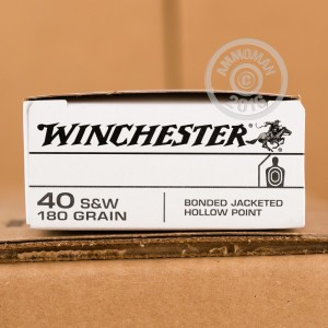 Picture of 40 S&W WINCHESTER BONDED 180 GRAIN JHP (500 ROUNDS)