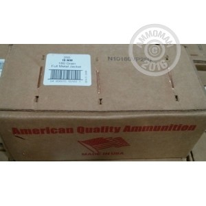 Picture of 10MM AUTO AMERICAN QUALITY AMMUNITION 180 GRAIN FMJ (250 ROUNDS)