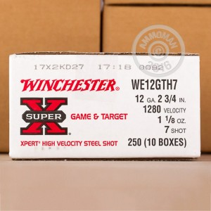 "Picture of 12 GAUGE WINCHESTER SUPER-X 2-3/4"" #7 STEEL SHOT (250 ROUNDS)"