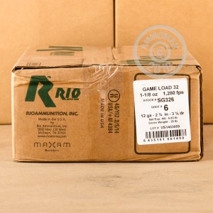 "Picture of 12 GAUGE RIO AMMUNITION GAME LOAD 2-3/4"" 1-1/8 OZ. #6 SHOT (250 ROUNDS)"