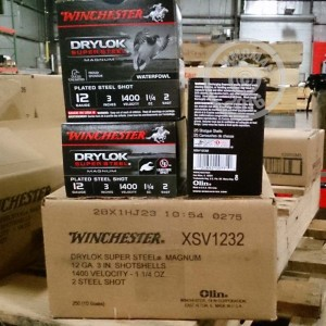 """Picture of 12 GAUGE WINCHESTER DRYLOK SUPER STEEL 3"""" 1-1/4 OZ. #2 SHOT (25 ROUNDS)"""