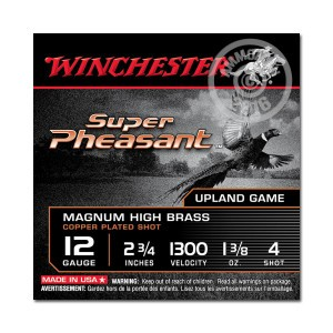 """Picture of 12 GAUGE WINCHESTER SUPER PHEASANT 2-3/4"""" 1-3/8 OZ. #4 SHOT (25 ROUNDS)"""