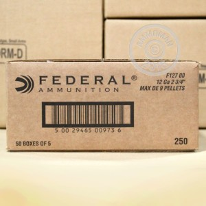"Picture of 12 GAUGE FEDERAL POWER SHOK 2-3/4"" 00 BUCK #F12700 (250 ROUNDS)"