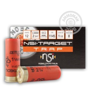 "Picture of 12 GAUGE NOBELSPORT TRAP 2-3/4"" 1-1/8 OZ. #8 SHOT (250 ROUNDS)"