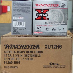 """Picture of 12 GAUGE WINCHESTER SUPER-X 2-3/4"""" 1-1/8 OZ. #6 SHOT (250 ROUNDS)"""