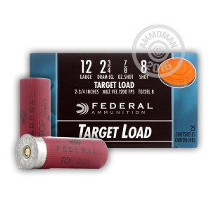 "Picture of 12 GAUGE FEDERAL TOP GUN TARGET LOAD 2-3/4"" 7/8 OZ. #8 LEAD SHOT (25 ROUNDS)"