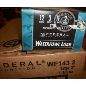 """Picture of 12 GAUGE FEDERAL SPEED SHOK 3"""" 1 1/8OZ. #2 STEEL SHOT WATERFOWL LOAD (25 ROUNDS)"""