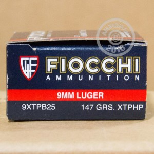 Picture of 9MM LUGER FIOCCHI EXTREMA 147 GRAIN JHP (25 ROUNDS)