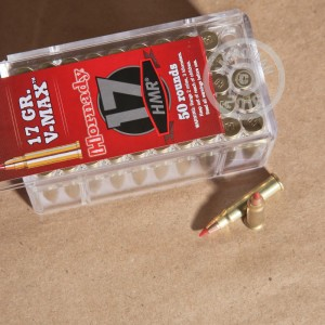 Picture of 17 HMR HORNADY V-MAX 17 GRAIN JHP (50 ROUNDS)