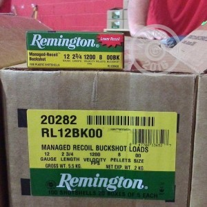 "Picture of 12 GAUGE REMINGTON MANAGED RECOIL 2-3/4"" 00 BUCK (5 ROUNDS)"