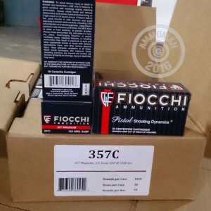 Picture of 357 MAGNUM FIOCCHI 125 GRAIN JSP (1000 ROUNDS)