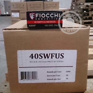 Picture of 40 S&W FIOCCHI SHOOTING DYNAMICS 165 GRAIN FMJ (1000 ROUNDS)