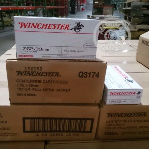 Picture of 7.62X39 WINCHESTER 123 GRAIN FMJ (20 ROUNDS)