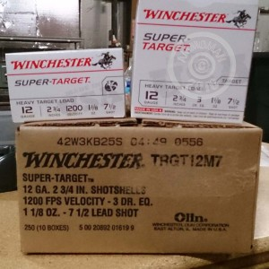 "Picture of 12 GAUGE WINCHESTER SUPER TARGET 2-3/4"" #7.5 (25 ROUNDS)"