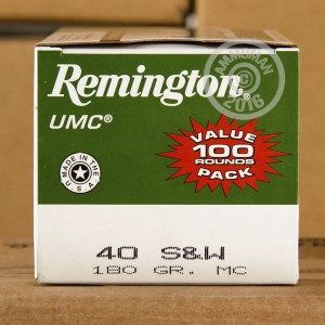 Picture of 40 S&W REMINGTON UMC 180 GRAIN MC (50 ROUNDS)