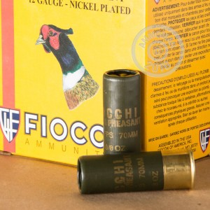 """Picture of 12 GAUGE FIOCCHI GOLDEN PHEASANT 2-3/4"""" 1-3/8 OZ. #4 NICKEL PLATED LEAD SHOT (250 ROUNDS)"""