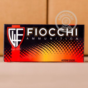 Picture of 40 S&W FIOCCHI SHOOTING DYNAMICS 165 GRAIN FMJ-TC (250 ROUNDS)