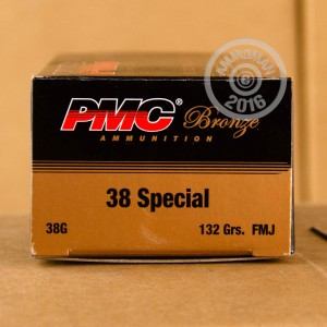 Picture of 38 SPECIAL PMC 132 GRAIN FMJ (50 ROUNDS)