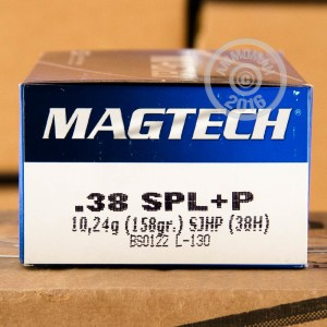 Picture of 38 SPECIAL +P MAGTECH 158 GRAIN SEMI-JACKETED HOLLOW-POINT (50 ROUNDS)