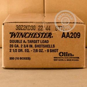 "Picture of 20 GAUGE WINCHESTER AA TARGET 2 3/4"" 7/8 OZ. #9 SHOT (250 ROUNDS)"
