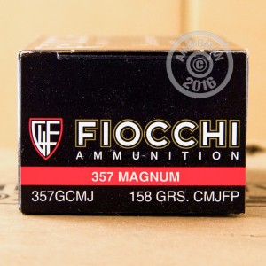 Picture of 357 MAGNUM FIOCCHI SHOOTING DYNAMICS 158 GRAIN CMJ (1000 ROUNDS)