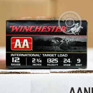 "Picture of 12 GAUGE WINCHESTER AA INTERNATIONAL TARGET 2-3/4"" 7/8 OZ. #9 SHOT (25 ROUNDS)"