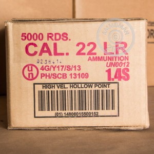 Picture of 22 LR ARMSCOR 36 GRAIN HP (5000 ROUNDS)