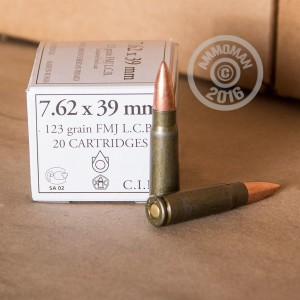 Picture of 7.62X39 WOLF 123 GRAIN FMJ (20 ROUNDS)