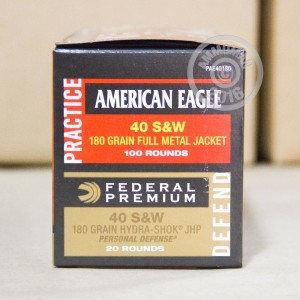 Picture of 40 S&W FEDERAL PREMIUM 180 GRAIN HYDRA-SHOK JHP (480 ROUNDS)
