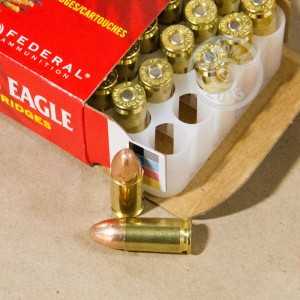 Picture of 9MM LUGER FEDERAL AMERICAN EAGLE 124 GRAIN FMJ (50 ROUNDS)