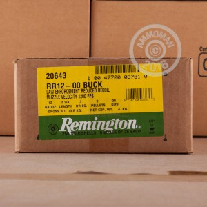"""Picture of 12 GAUGE REMINGTON LOW RECOIL 2-3/4"""" 00 BUCK (25 ROUNDS)"""